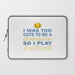 Cute Cheerleader Softball Laptop Sleeve