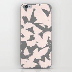 Pastel Pink Bird Wings on Grey iPhone & iPod Skin