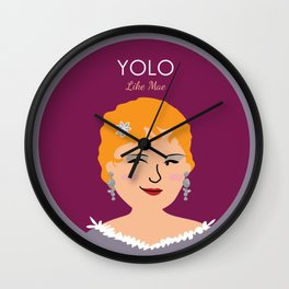 YOLO like Mae West Wall Clock