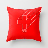 switzerland Throw Pillows featuring 0008 - Switzerland by FIFAMATIC