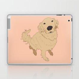 Golden Retriever Love Dog Illustrated Print Laptop & iPad Skin