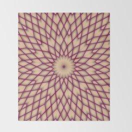 Purple Fishnet Mandala Pattern Throw Blanket