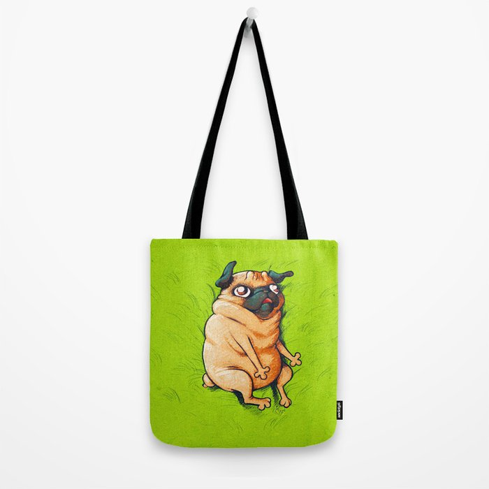 Pug Roll Tote Bag