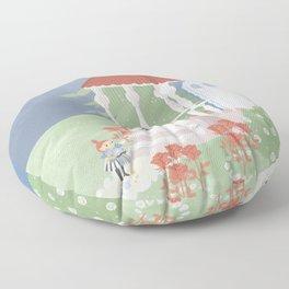 Spring in Moominvalley Floor Pillow