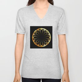 A decorative Celtic fractal flower like a mandala Unisex V-Neck