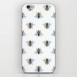 Watercolour Bee Pattern iPhone Skin