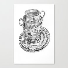 Stacked Tea Cups Canvas Print