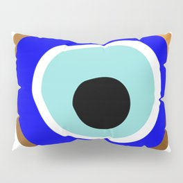 Grecian Gold evil eye in blue on white Pillow Sham