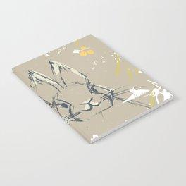 Bunny Portrait M+M Latte by Friztin Notebook