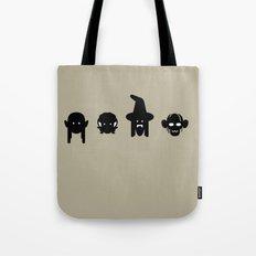 legolas, frodo, gandalf & gollum Tote Bag