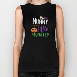 This Mummy is Expecting A Little Monster Halloween Biker Tank