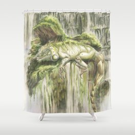 Reptilian Serenity Shower Curtain