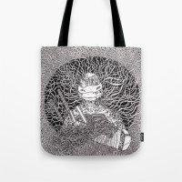 ninja turtle Tote Bags featuring Ninja Turtle by OKAINA IMAGE