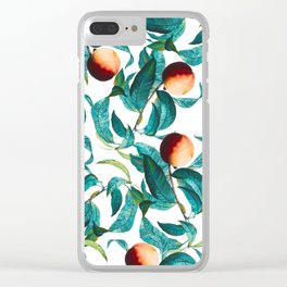 Fruit and Leaf Pattern Clear iPhone Case