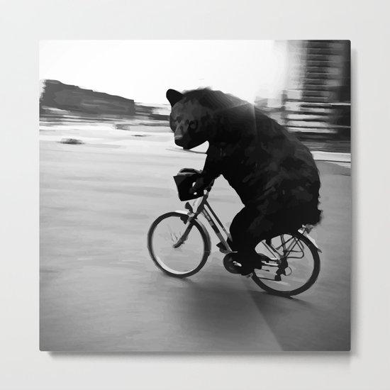 Biker Road Metal Print