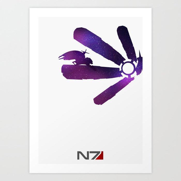 Mass Effect 1 (w/quote) Art Print