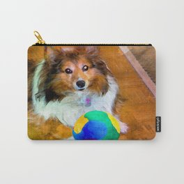 Sheltie with Ball Carry-All Pouch