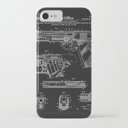 Colt 1911 Handgun Patent - Black iPhone Case