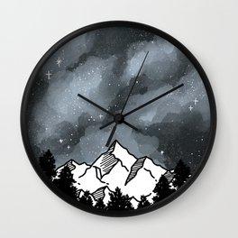 Mountain Galaxy Sky Wall Clock