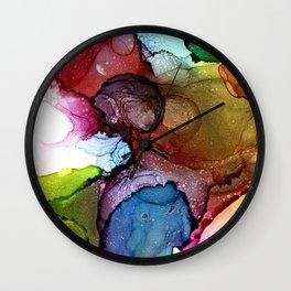Rainbow Marshmallow Wall Clock