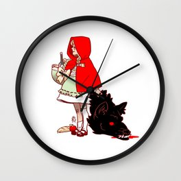 Litte Red Wall Clock