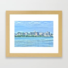 Madison Skyline Framed Art Print