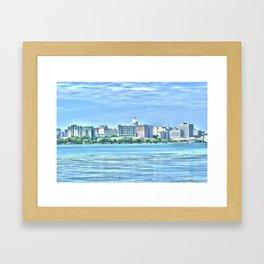 Madison Skyline Framed Art Print