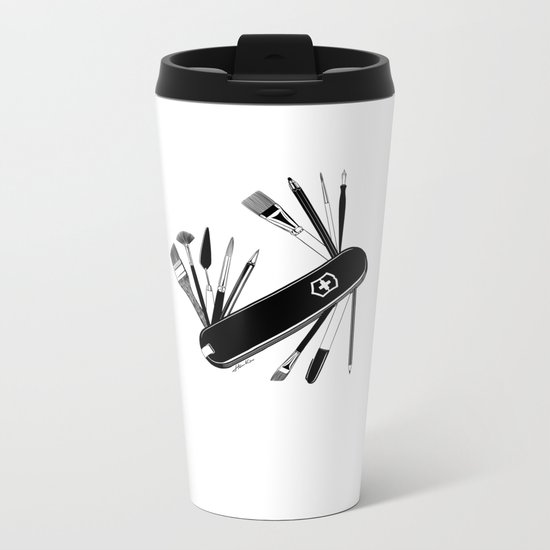 Art Almighty Metal Travel Mug