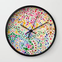 confetti Wall Clocks featuring Confetti by Love2Snap