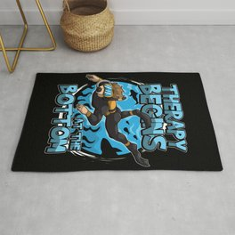 Therapy Begins At The Bottom - Diving Diver Rug