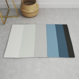 Blue & Grey Gradient Stripes Rug