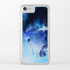 Indigo watercolor Clear iPhone Case