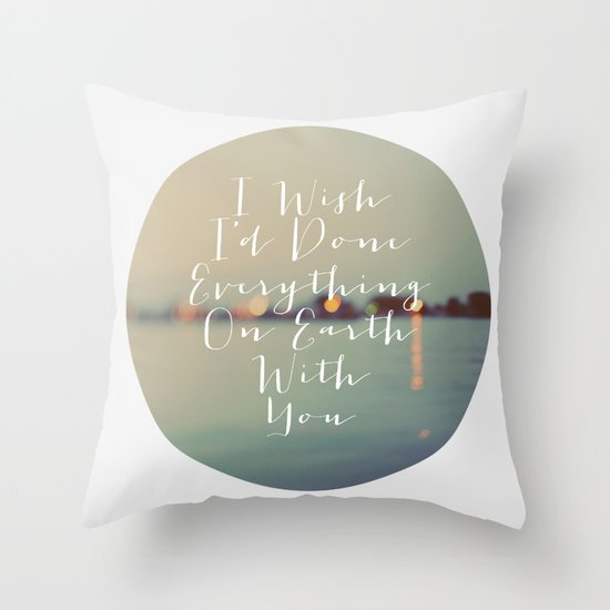 Everything On Earth Throw Pillow