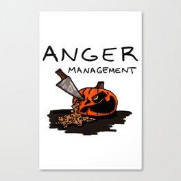 Halloween Anger Management Canvas Print