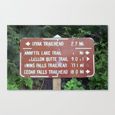 Trail Miles Canvas Print
