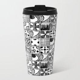 Squares Metal Travel Mug