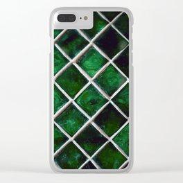 Emerald Pattern Clear iPhone Case
