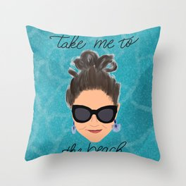 Beach Babe Throw Pillow