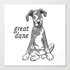 Dog Breeds: Great Dane Canvas Print