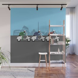 The Vintage Italian Scooter Trio Wall Mural