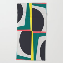 Modern Geometric 65 Green Beach Towel
