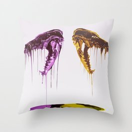 Painted Skull Throw Pillow