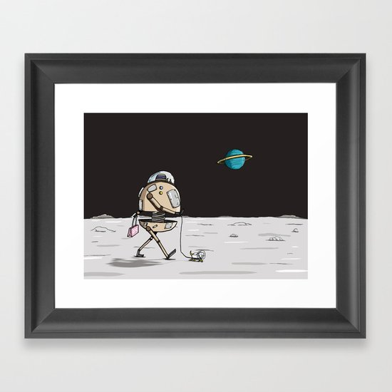On the moon 1 Framed Art Print