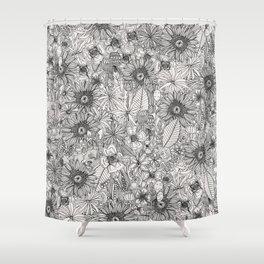 pencil flowers Shower Curtain