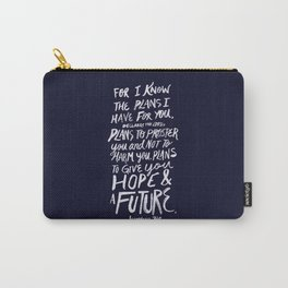 Jeremiah 29: 11 x Navy Carry-All Pouch