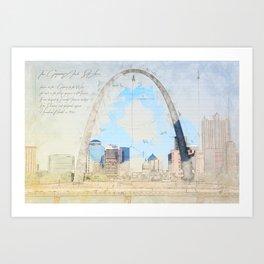 Gateway Arch, Saint Louis USA Art Print