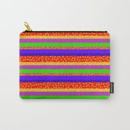 Bubbly Rainbow Striped Pattern Carry-All Pouch