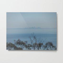 Melbourne on the horizon, from Arthur's Seat, Mornington Peninsula, Australia Metal Print