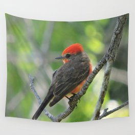 Vermilion Flycatcher Wall Tapestry