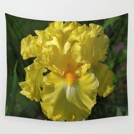 Golden Iris flower - 'Power of One' Wall Tapestry